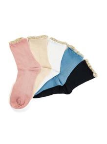 Lace Trim Socks 5pairs