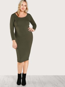 Solid Jersey Pencil Dress