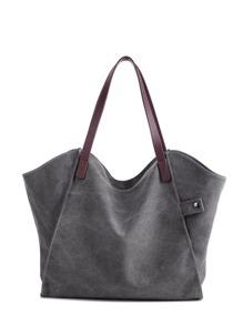 Minimalist Tote Bag With PU Handle