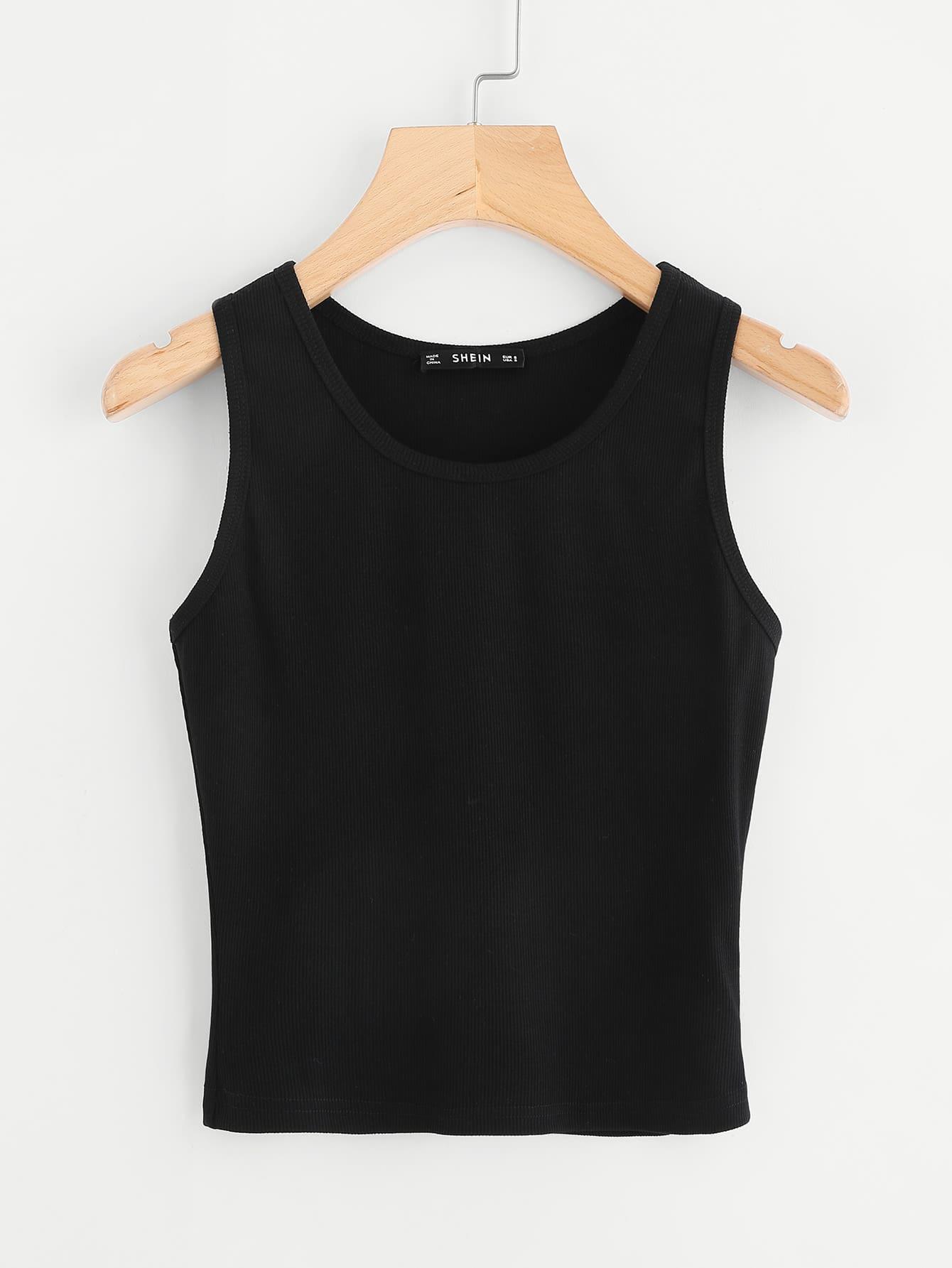 Rib Knit Tank Top vest171013702