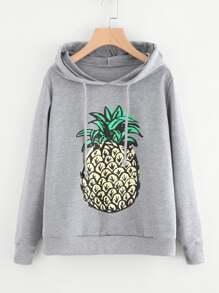 Pineapple Print Hoodie