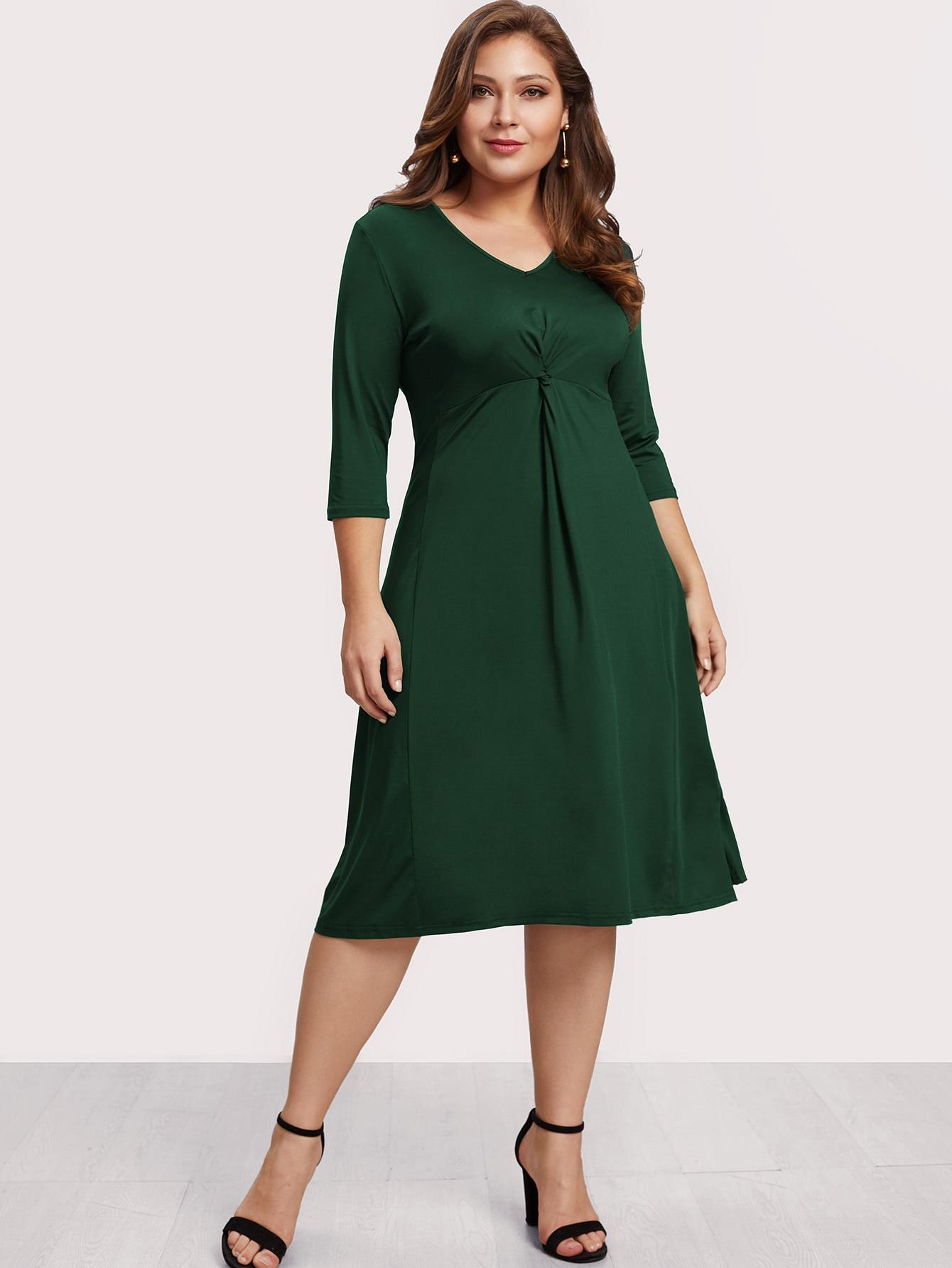 Купить Модное платье с V-образным вырезом, Carol, SheIn
