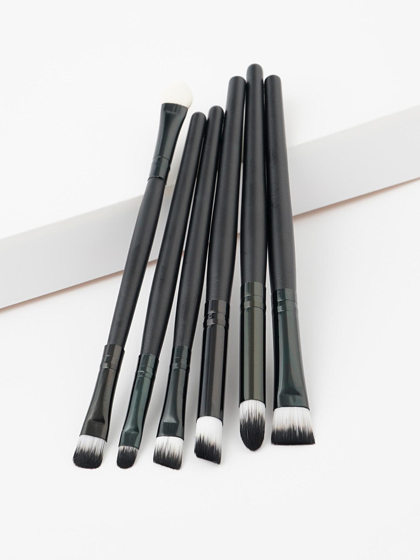 Soft Bristle Eye Brush 6pcs 3 bristle