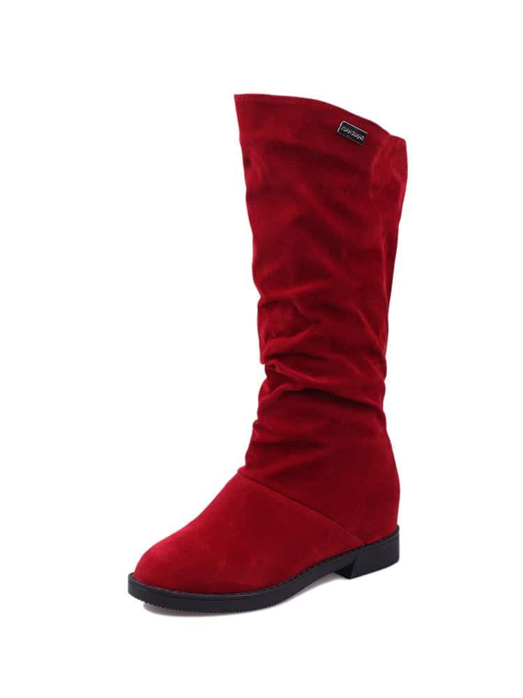 Round Toe Flat Boots round toe buckles flat heel short boots