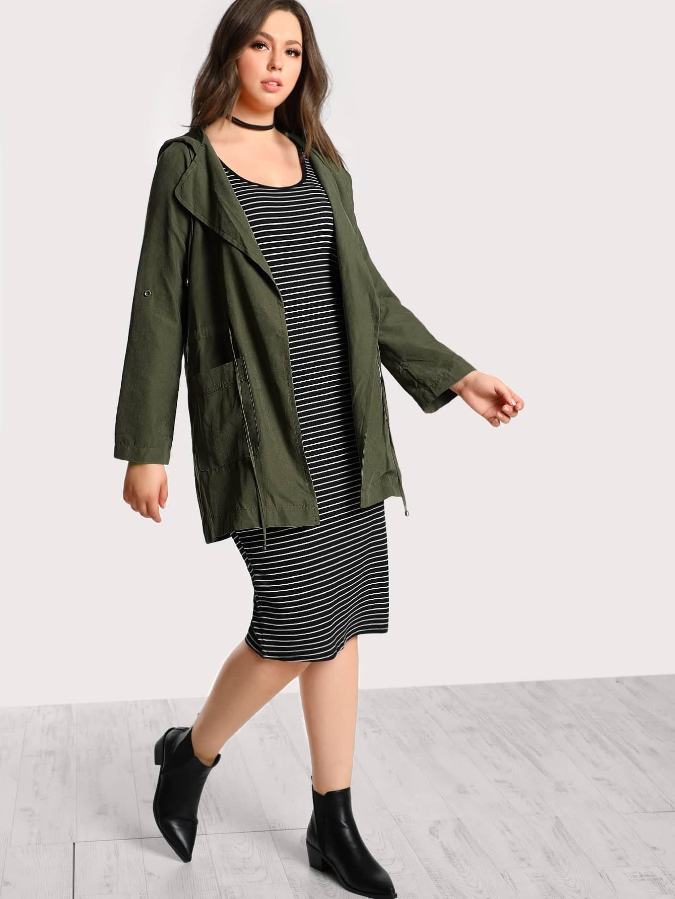 Lightweight Two Pocket Hooded Jacket