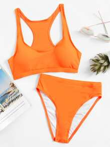 Conjunto de bikini de talle alto