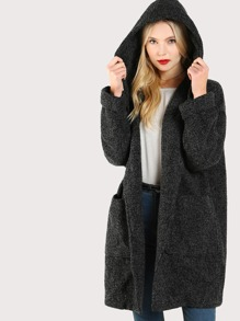 Wool Hooded Coat STONE