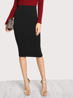 Slit Back Column Skirt