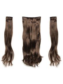 Warm Brunette Clip In Soft Wave Hair Extension 3pcs