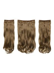 Harvest Blonde Clip In Soft Wave Hair Extension 3pcs