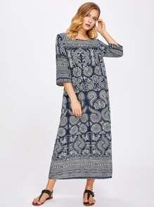 Tribal Print Longline Dress
