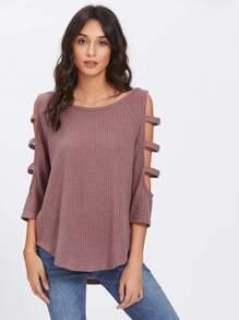 T-shirt tricoté avec manche raglan