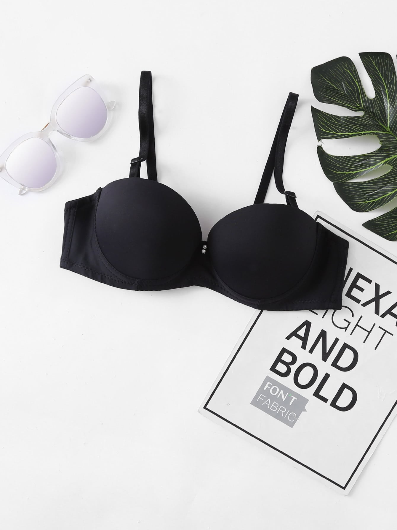 Image of Adjustable Straps Demi Bra