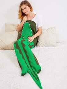 Tapis en tricot en forme de l\'alligator