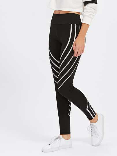 Leggings rayure oblique