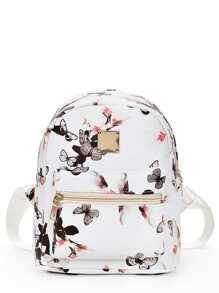 Vintage Flower Print Backpack