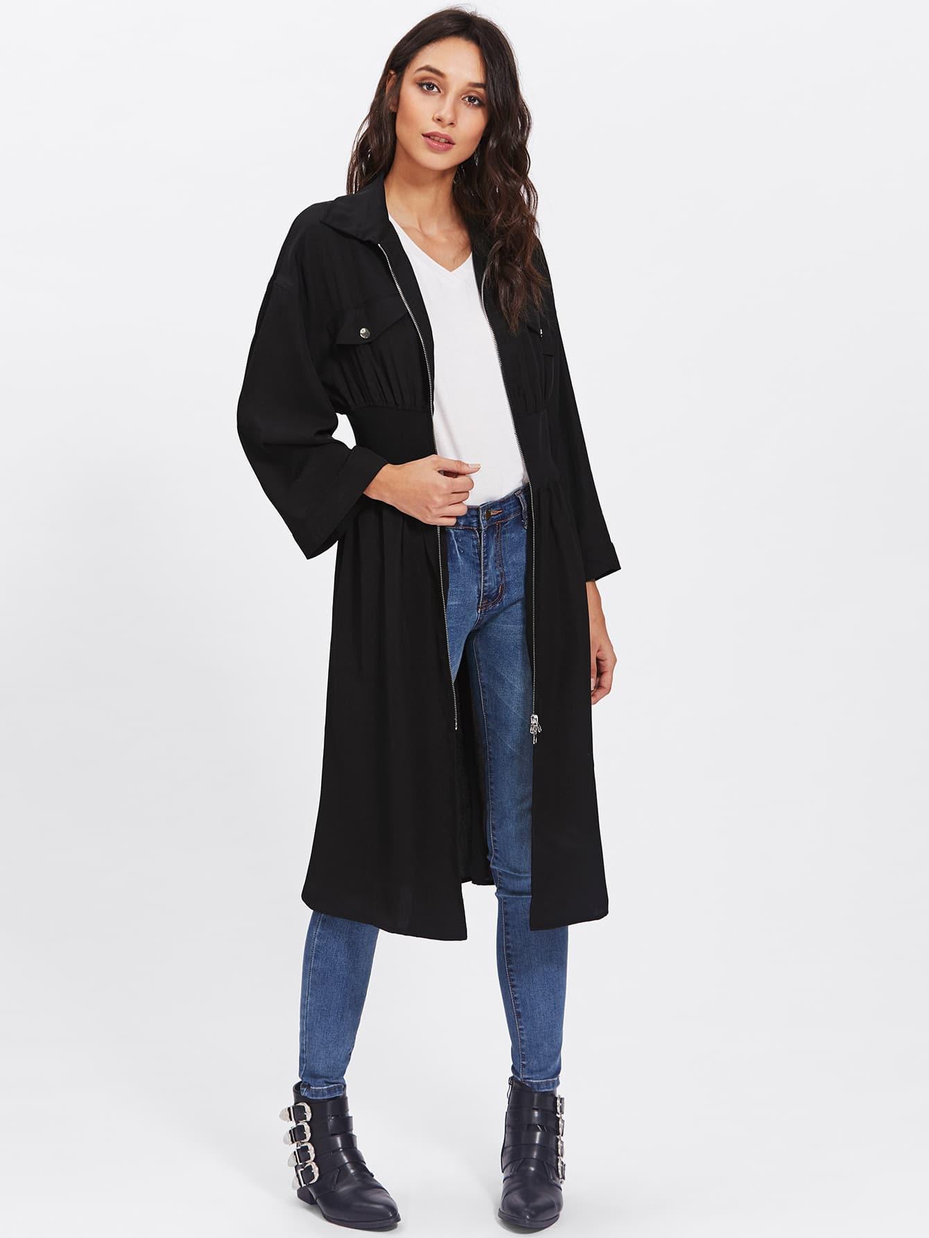 Wide Sleeve Stretchy Empire Waist Coat