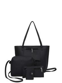 Pocket Front Tote Bag & Crossbody Bag & Clutch & Card Holder