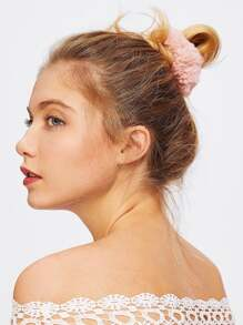 Faux Fur Hair Tie