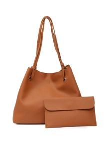 PU Tote Bag With Clutch