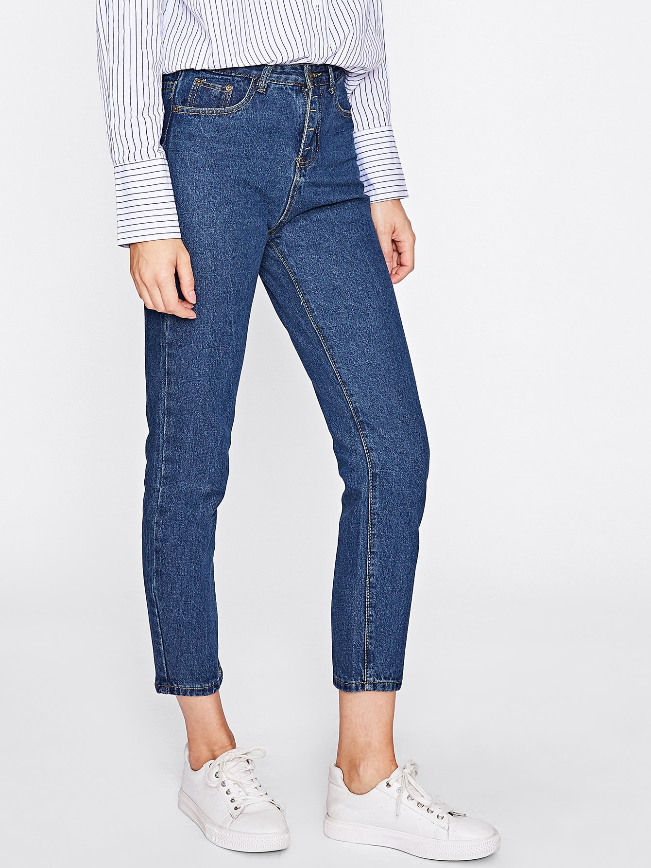 Image of Basic Ankle Jeans