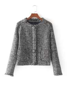 Frayed Edge Tweed Jacket