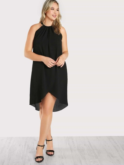 Flowy Chiffon Overlap Dress