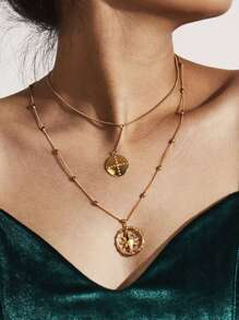 Layered Necklace With Mixed Charm