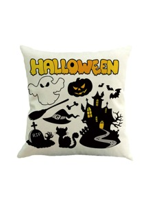 Halloween Print Pillowcase Cover
