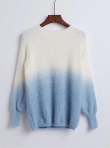 Ombre Loose Fuzzy Sweater