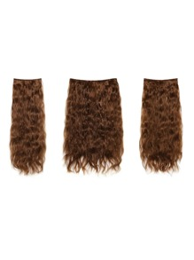 Golden Brown Clip In Curly Hair Extension 3pcs