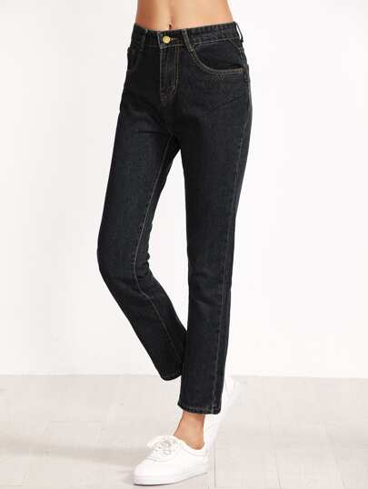 Dark Wash Pocket Jeans