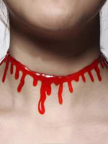 Horror Blood Choker Necklace