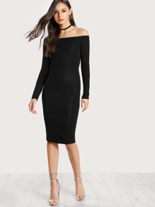Off Shoulder Pencil Dress