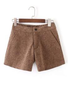 Straight Rib Shorts