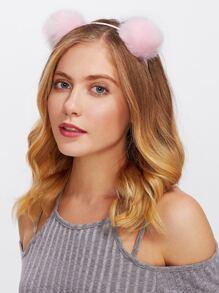 Pom Pom Ear Headband