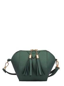 Double Tassel Zipper Crossbody Bag