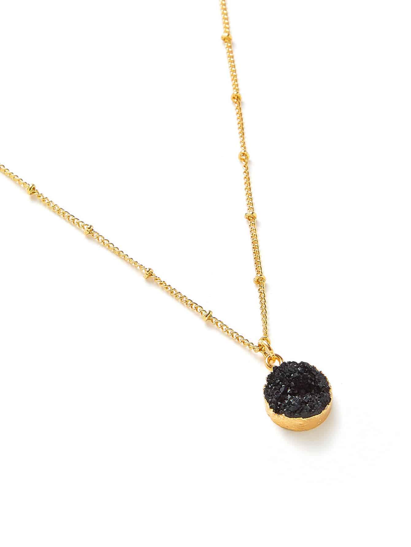Round Pendant Chain Necklace