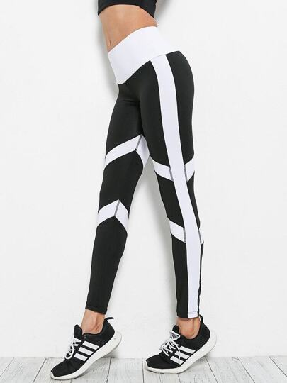 Contrast Striped Skinny Leggings