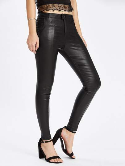Middle Waist Skinny Ankle Pants