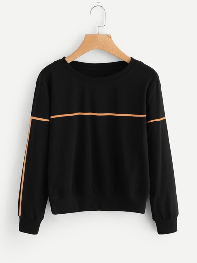 Sweat-shirt imprimé ligne