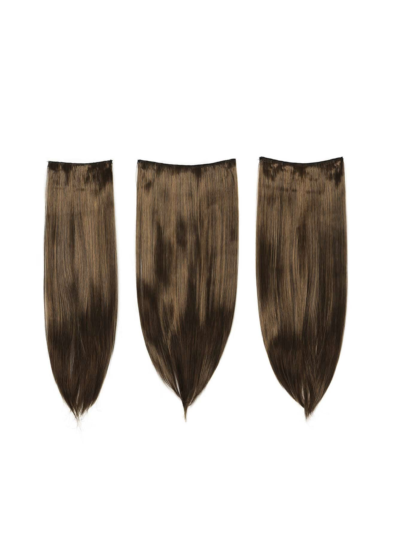 Warm Brunette Clip In Straight Hair Extension 3pcs