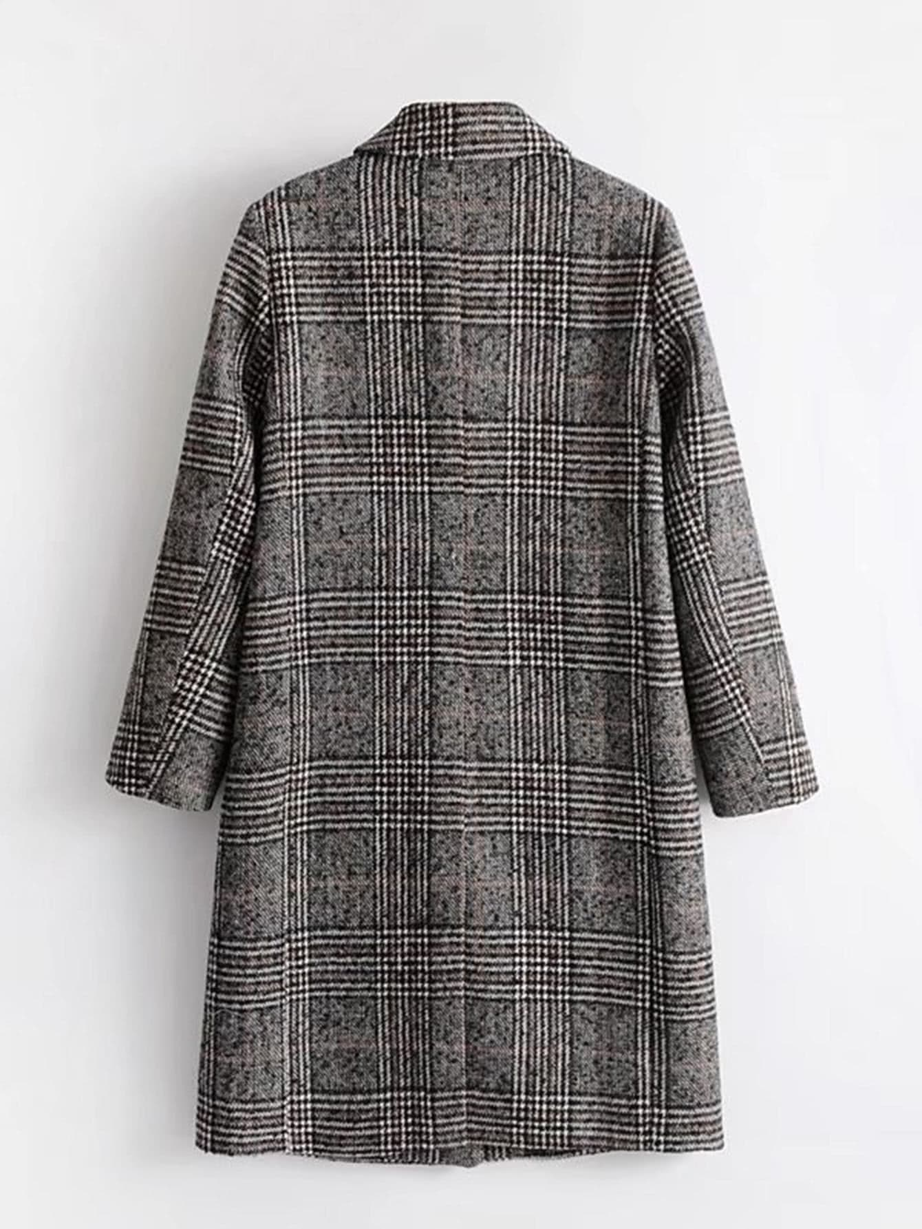 Wool Blend Glen Plaid Coat Emmacloth Women Fast Fashion Online