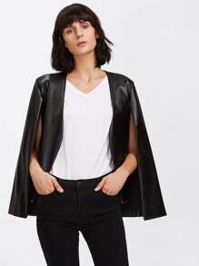 Cape Batwing PU Cloak Jacket