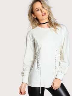 Corset Inspired Sweatshirt