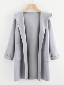 Dual Pocket Hooded Coat