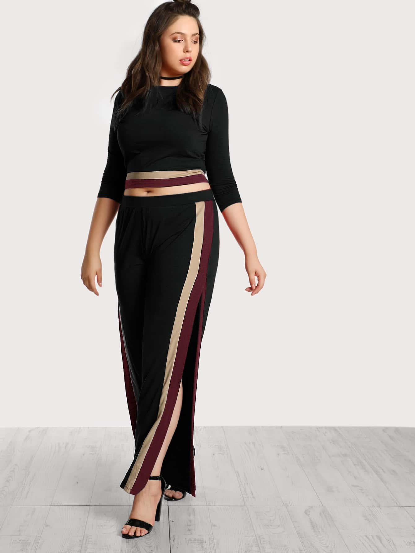 Image of Striped Top And Pants Co-Ord