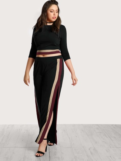 Striped Top And Pants Co-Ord