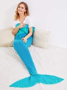 Manta de sirena crochet