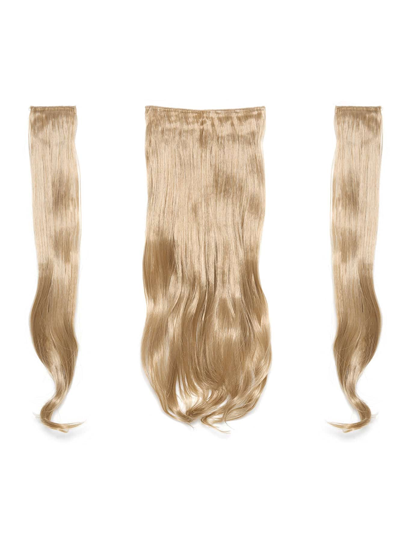 Champagne Blonde Clip In Soft Wave Hair Extension 3pcs light blonde clip in soft wave hair extension 5pcs